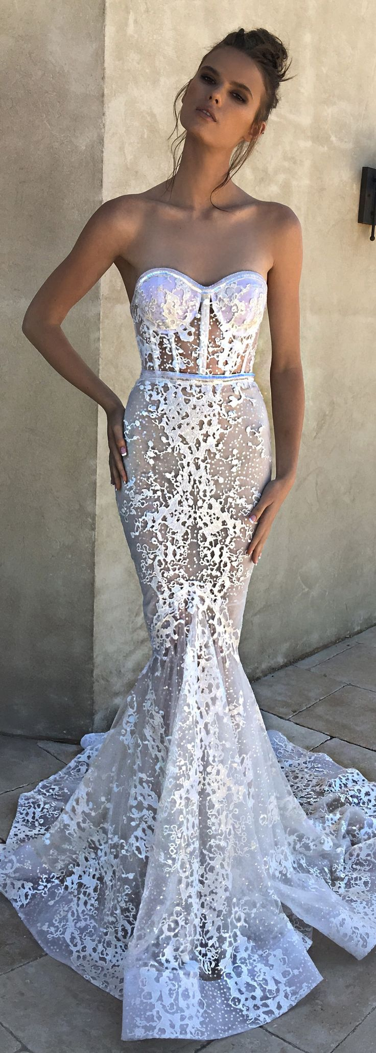 Wedding Dresses : Lace fitted wedding dress by BERTA Spring 2018 ...