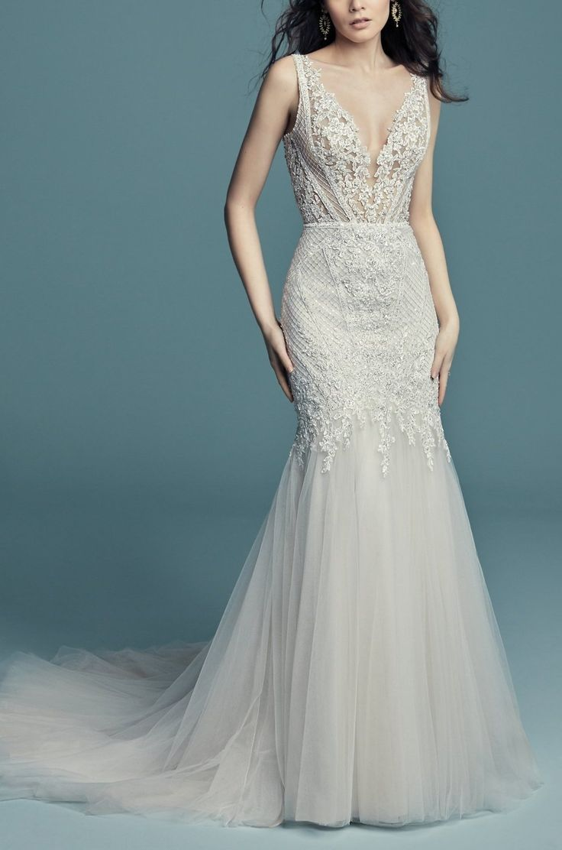 Wedding Dresses : Maggie Sottero - TANNER, unique vintage-inspired ...